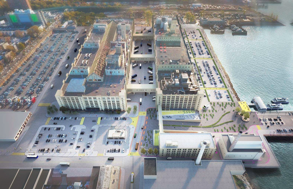 Brooklyn Army Terminal Solar Rendering